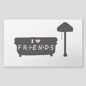 'I Love F.R.I.E.N.D.S' Sticker (Rectangle)