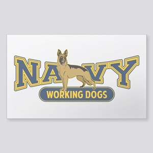 Navy Working Dogs Sticker (Rectangle)