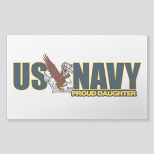 Navy Daughter Sticker (Rectangle)
