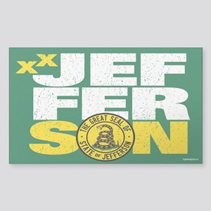 State of Jefferson - DTOM Sticker (Rectangle)