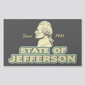 State of Jefferson - Since 1941 Sticker (Rectangle