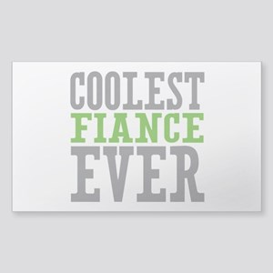 Coolest Fiance Sticker (Rectangle)