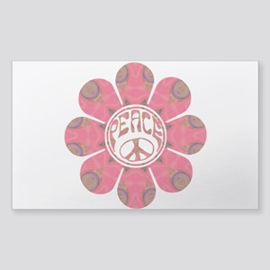Peace Flower - Affection Sticker (Rectangle)