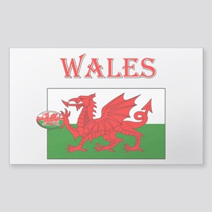 Wales Rugby Rectangle Sticker