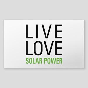 Solar Power Sticker (Rectangle)