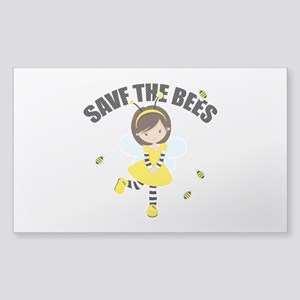 Save the Bees Sticker (Rectangle)