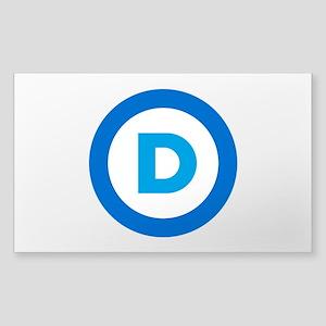Democratic Sticker (Rectangle)