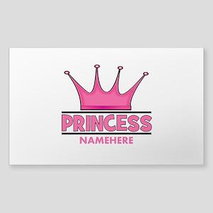 Custom Princess Sticker (Rectangle)