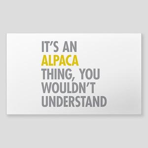 Its An Alpaca Thing Sticker (Rectangle)