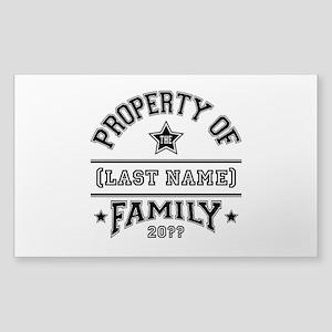 Family Property Sticker (Rectangle)