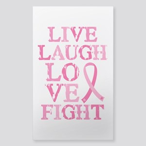 Live Love Fight Sticker (Rectangle)