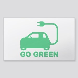 Go Green ~ Drive Electric Cars Sticker