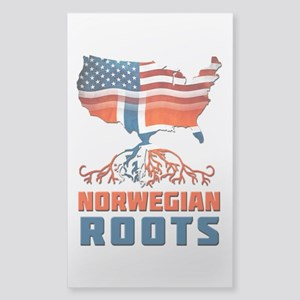 American Norwegian Roots Sticker