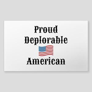 Deplorable American Sticker (Rectangle)