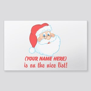 Personalized Nice List Sticker (Rectangle)