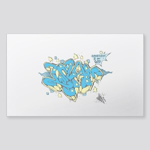 Islaam (Submission) urban styles!! Sticker (Rectan