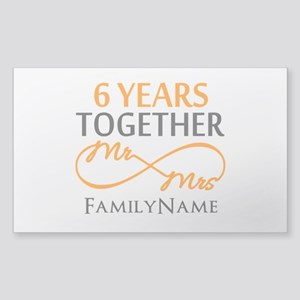 6th anniversary Sticker (Rectangle)