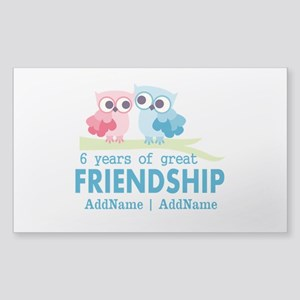 6th Anniversary Couple Gift Pe Sticker (Rectangle)