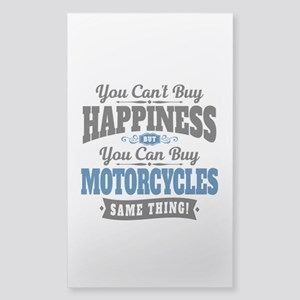 Biker Happiness Sticker (Rectangle)