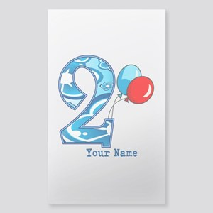 2nd Birthday Personalized Sticker (Rectangle)
