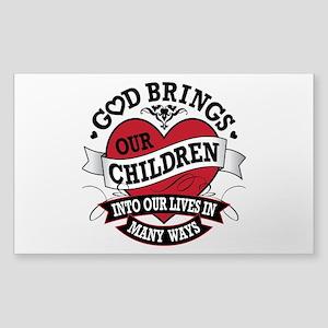 Adoption Tattoo Sticker (Rectangle)