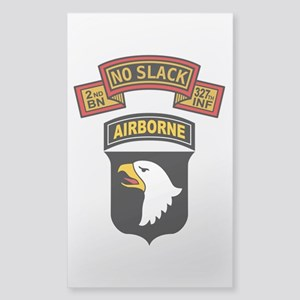 2-327th - 101st Sticker (Rectangle)