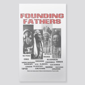 Native American, First Nations Founders Sticker (R