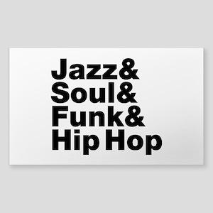 Jazz & Soul & Funk & Hip Hop Sticker