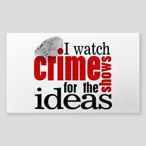 Crime Show Ideas Sticker (Rectangle)