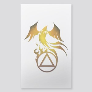 A.A. Logo Phoenix - Sticker (Rectangle)