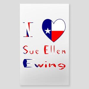I Love Sue Ellen Ewing Sticker (Rectangle)