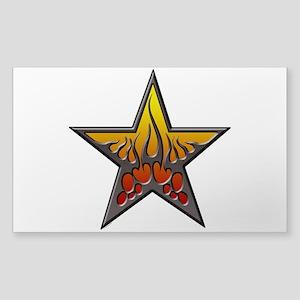flaming star Trans) Sticker