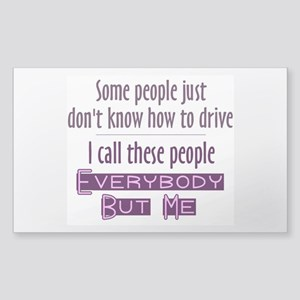 Bad Drivers (Purple) Sticker (Rectangle)