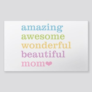 Amazing Mom Sticker (Rectangle)