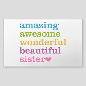 Amazing Sister Sticker (Rectangle)