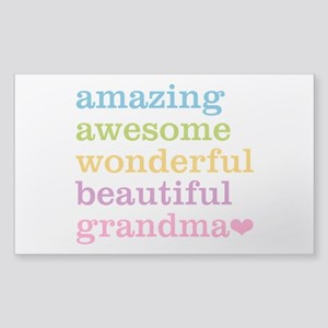 Amazing Grandma Sticker (Rectangle)