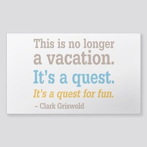Clark Griswold - Quest For Fun Sticker (Rectangle)