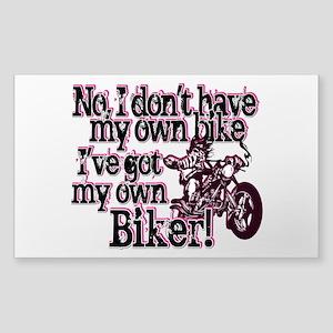 Got My Own Biker Sticker (Rectangle)