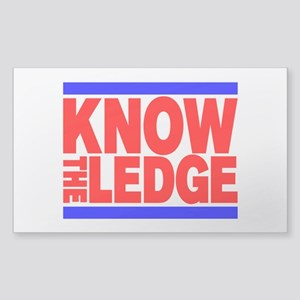 KNOW THE LEDGE Sticker (Rectangle)