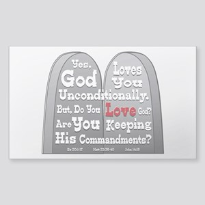 Commandments Sticker (Rectangle)