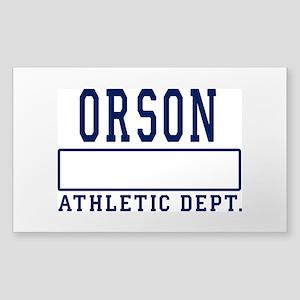 Orson Athletics Dept Sticker (Rectangle)