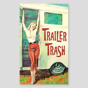 Trailer Trash Sticker (Rectangle)