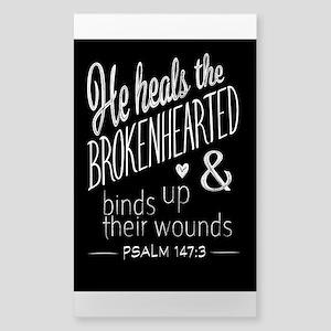 Psalm 147:3 Bible Verse Word Art Sticker