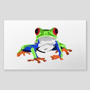 Frog Sticker (Rectangle)