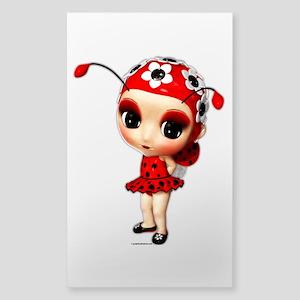Little Miss Ladybug Sticker (Rectangle)