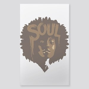 Soul Fro Sticker (Rectangle)