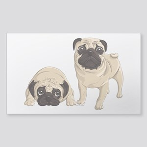 Pugs Sticker (Rectangle)