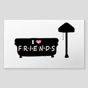 'I Love F.R.I.E.N.D.S' Sticker (Rectangle)