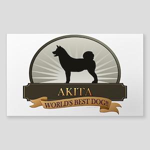 Akita Sticker (Rectangle)