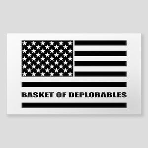 Basket of Deplorables Sticker (Rectangle)